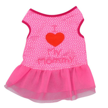 Pet Cat Dog Mesh Dresses Apparel Dog Heart Vest Pet Clothes Puppy Tops Coat Clothes Summer T-shirt XS-L