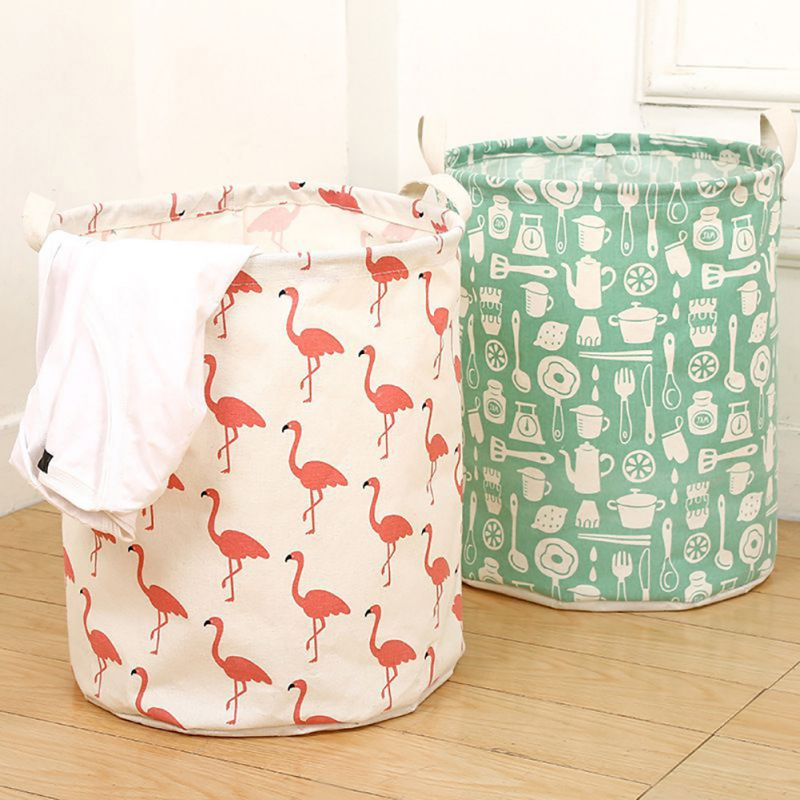 Foldable Cloth Storage Basket Cute Animals Pattern Laundry Baskets For Bathroom Large Size Laundry Baskets Home Storage Supplies
