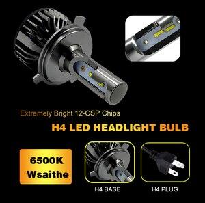 Image 3 - 2 Chiếc H4 H7 LED Đèn Pha Bóng Đèn Xi Nhan Canbus Siêu Sáng 16000Ml ZES Chip H1 H3 H11 H27 880 HB3 9005 9006 9007 6500K Tự Động Đèn Sương Mù