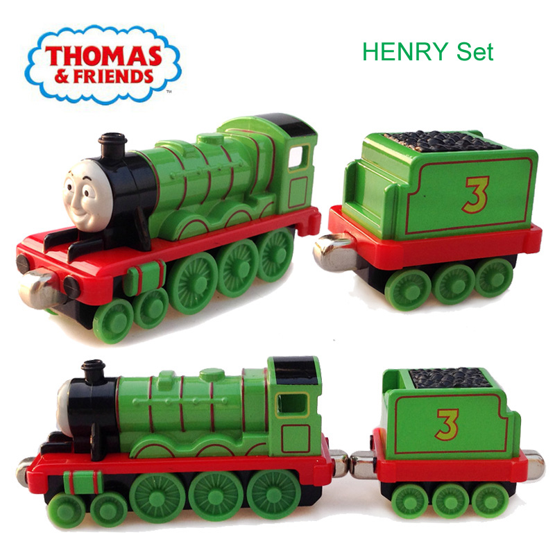 Alloy Toys Thomas And Friends Vehicles No 3 Henry Locomotive Train And Henry Carriage Set Kids Toy Cars For Children New Gifts Diecasts Toy Vehicles Aliexpress