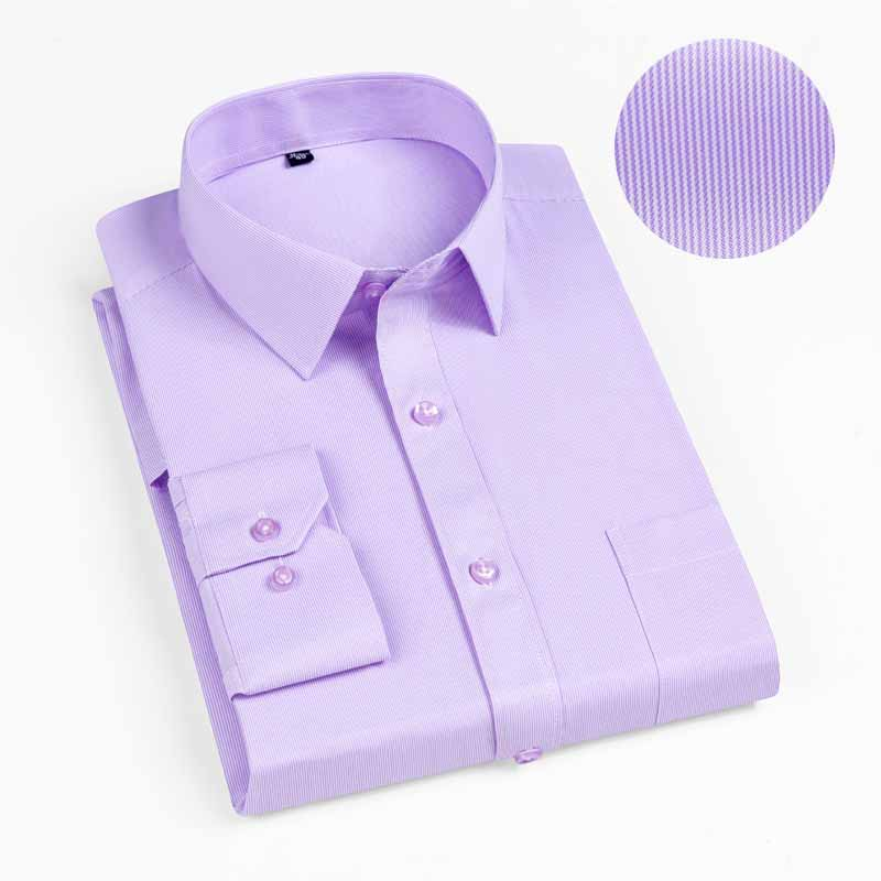 New 2019 Autumn Men Shirt Plus Size Slim Fit 45% Cotton Plaid Men Dress Shirts Regular Long Sleeve Men's Business Casual Shirt 14