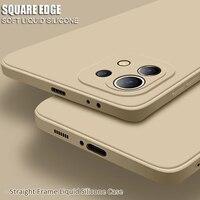 Platz Stoßstange Flüssigkeit Silikon Fall Für Xiaomi Mi 6X 5X 6 8 9 SE 10 10T Pro Lite 11 ultra Mi A2 A3 Poco F3 X3 Mix 2s 3 Zurück Abdeckung