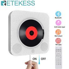 Cd-Player Bluetooth Speaker Mountable Fm-Radio Wall Retekess with Remote-Control AUX
