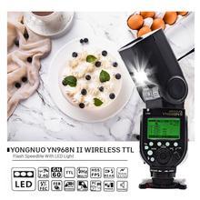 YONGNUO YN968N II แฟลช SPEEDLITE สำหรับ Canon Nikon DSLR ใช้งานร่วมกับ YN622N YN560 Wireless TTL SPEEDLITE 1/8000 LED LIGHT