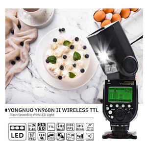 Image 1 - Yongnuo YN968N Ii Flash Speedlite Voor Canon Nikon Dslr Compatibel Met YN622N YN560 Draadloze Ttl Speedlite 1/8000 Met Led Licht