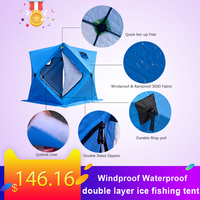winter 3 4 Person Windproof Waterproof ice fishing tent waterproof thermal insulation double layer winter ice fishing tents