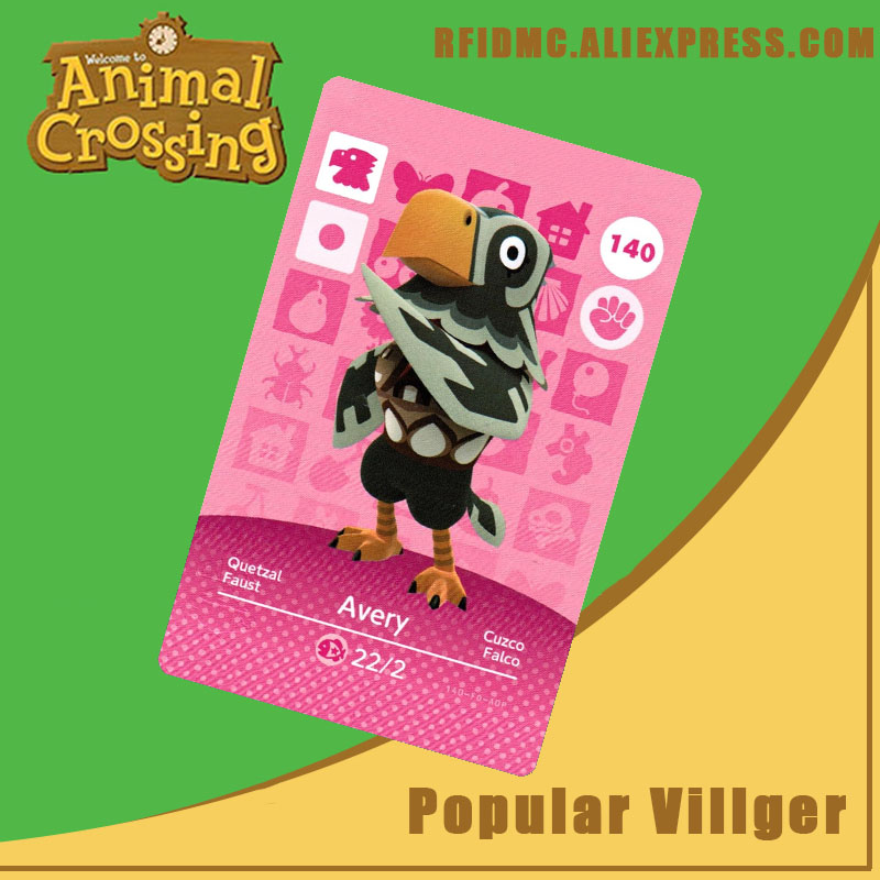 140 Avery Animal Crossing Card Amiibo For New Horizons