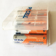 4 szt. PKCELL aa NIZN akumulator AA 2500mWh 1.6V zielony akumulator mniej zanieczyszczeń i 1 szt. Pudełka