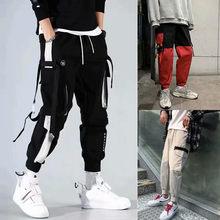 Pantalon Cargo en pur coton pour homme, Streetwear, mode Harajuku, Jogging, sport, Hip-Hop, Long, 2020