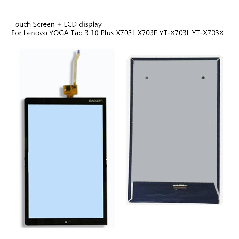 LCD Display Matrix Screen Touch Panel For Lenovo YOGA Tab 3 10 Plus X703L X703F YT-X703 L YT-X703X Digitizer Assembly With Frame