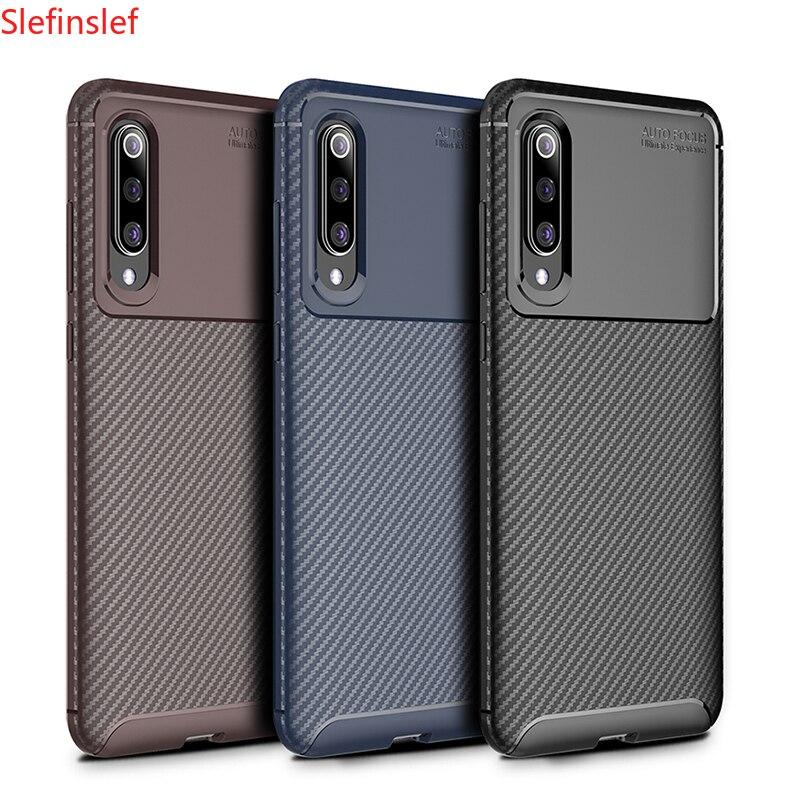 Shockproof Phone Case Bumper Silicone Carbon fiber Cover On For Xiaomi MI 9 SE 9T Pro Mi9 9SE Mi9t t 6/8 64/128/256 GB Xiomi(China)