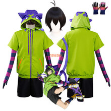 SK8 Miya jersey con capucha disfraz Cosplay el infinito SK ocho Miya Cosplay disfraces Chinen Miya pelucas chaqueta cola guantes trajes de fiesta
