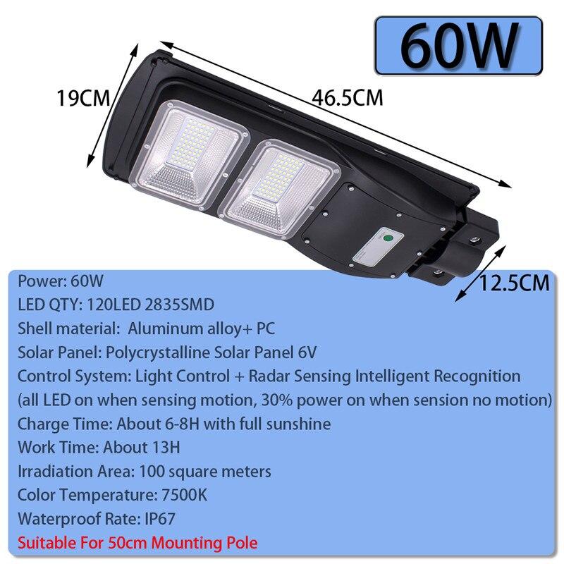 60W 90W 120/180LED Solar Straße Licht Rada r + PIR Motion Sensor Outdoor Wand Lampe Solar wasserdicht Landschaft Garten Licht