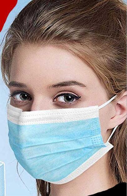 100PCS Face Mouth Anti Virus Mask Disposable Protect 3 Layers Filter Dustproof Earloop face Mouth Masks Non Woven 4