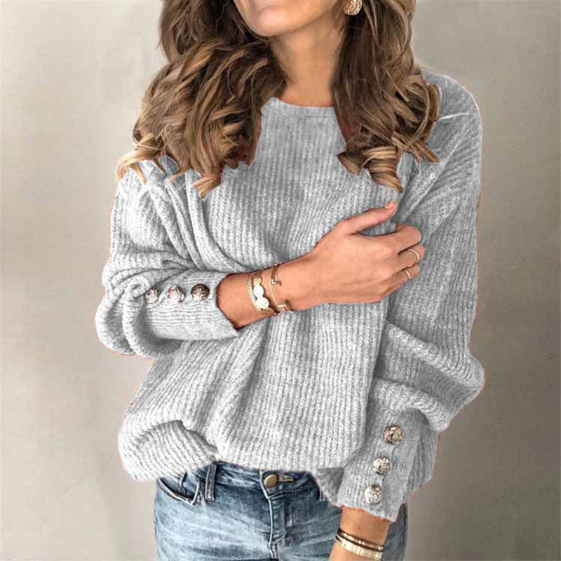 Women Knitted Sweaters And Pullover Lady Autumn Plus Size Casual Long Sleeve Knitted Sweater Elegant Outwear Pullover Tops