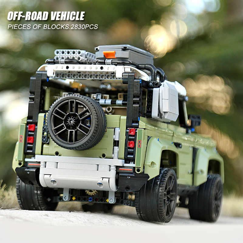 Série de voitures techniques Supercar Land Rover Guardian modèle de véhicule tout-terrain blocs de construction briques compatibles avec les jouets lego 42110