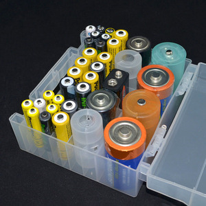 Image 5 - Transparent Plastic Battery Holder Box Container for AA and AAA Battery Storage Boxes Case Cover for Battery Organizer Holder