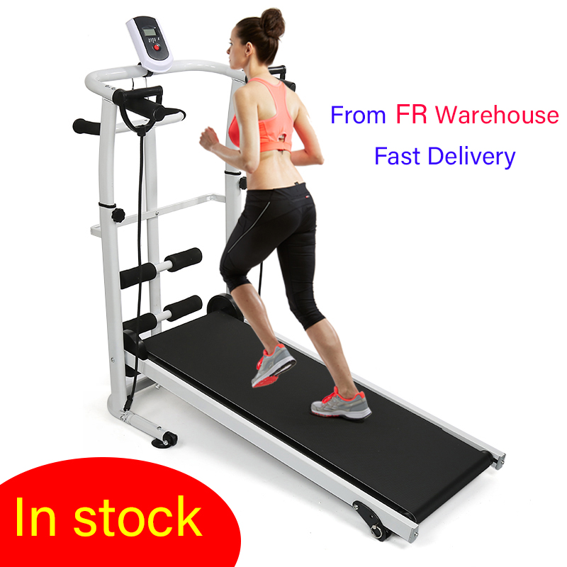 1PC Mechanical Treadmill Folding Treadmills Fitness Equipment For Home Gym Running Machine Training Sports Sit-up LED Dial HWC