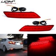 IJDM F1 estroboscópica LED parachoques Reflector luces para 2013-2015 Honda Civic sedán función como cola de freno y luz antiniebla trasera