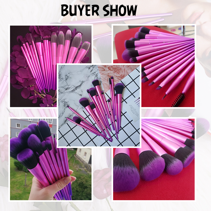 Image 5 - DUcare Makeup Brushes 15PCS Professional brush set Eyeshadow Foundation Powder Brush Make Up Brushes Cosmetic ToolsEye Shadow Applicator   -