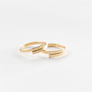 Image 4 - Cc ステンレス鋼シンプルな珍味指輪女性のための薄型アジャスタブル恋人リングナックルリング装身具卸売罰金 YJ14992