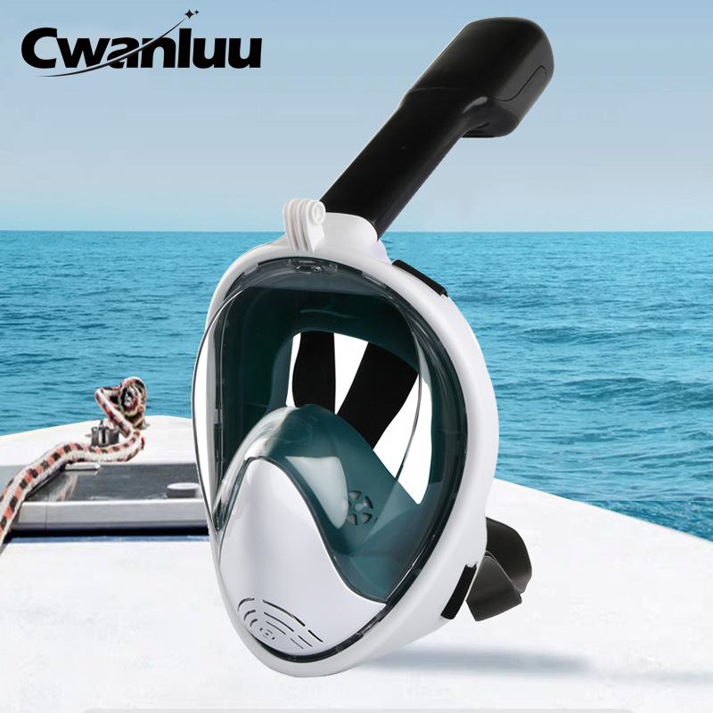Full Face Diving Mask Anti-Fog Snorkeling Mask Underwater Scuba Swimming Mask Glasses Snorkel Dive Equipment for Adult Kid