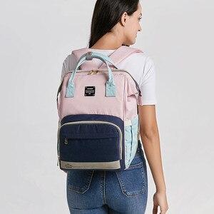 Image 3 - Рюкзак для мам LEQUEEN, модная Вместительная дорожная сумка для подгузников, дизайнерский, для ухода за детьми