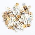 50 шт звезда сердце круглые естественные ракушки 2 кнопки отверстия Цвет Япония перламутровая Швабра оболочка кнопка Швейные аксессуары DIY
