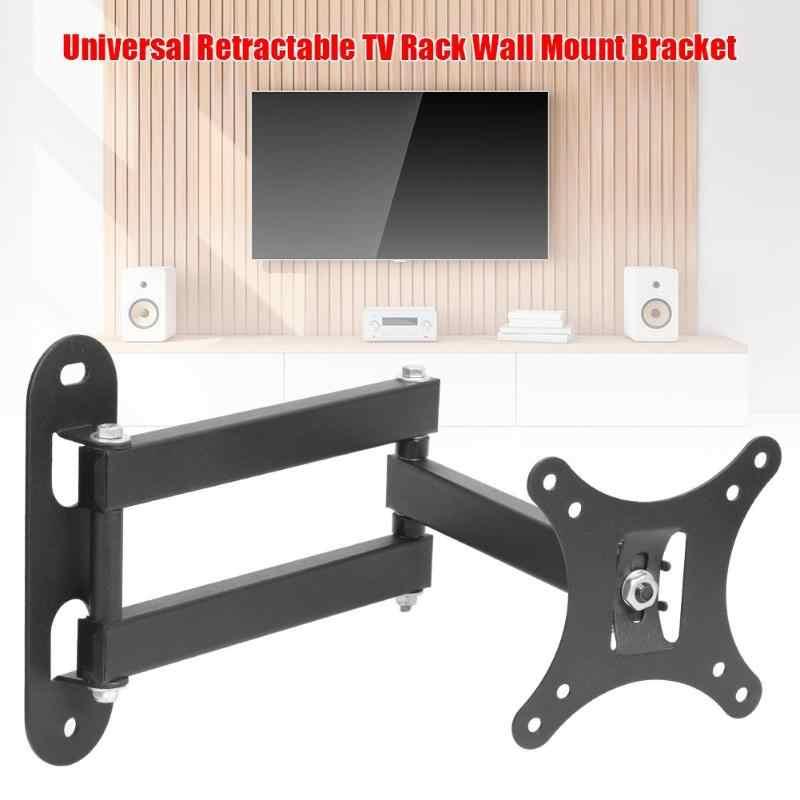 متعدد الوظائف التلفزيون القياسية قابل للسحب رف التلفزيون جدار جبل قوس لمدة 17 إلى 32 بوصة شاشات كريستال بلورية