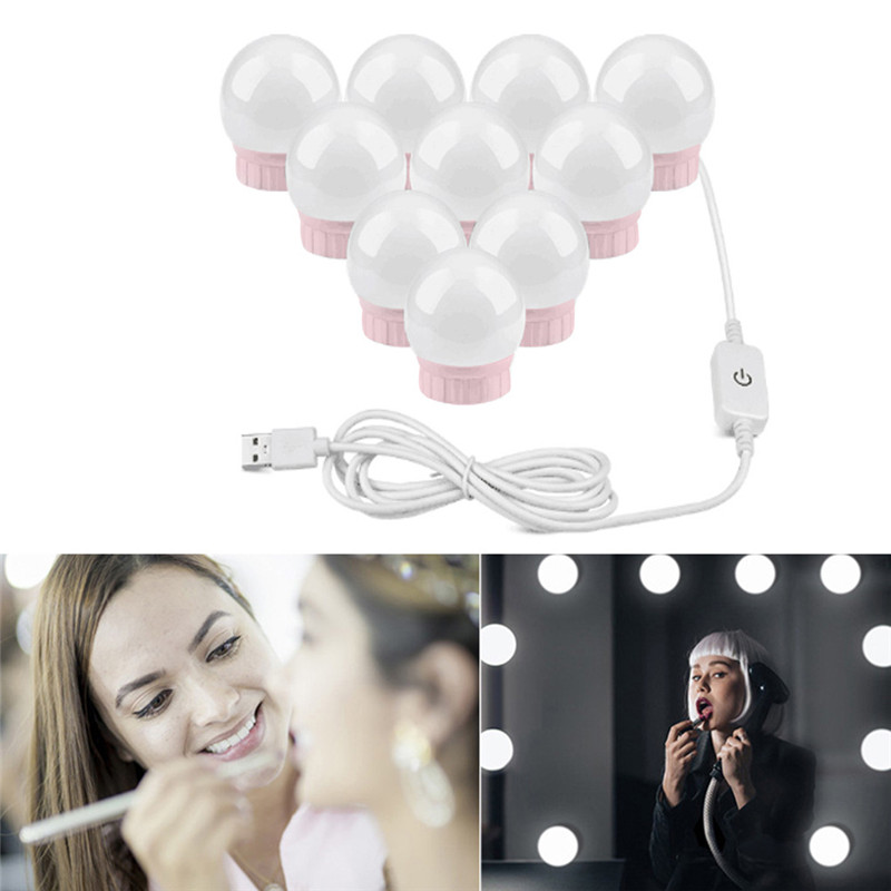 Hollywood Style LED Vanity Mirror Lights Rechargable Light Bulbs For Makeup Dressing Table Vanity Mirror Light Cabinet Bathroom