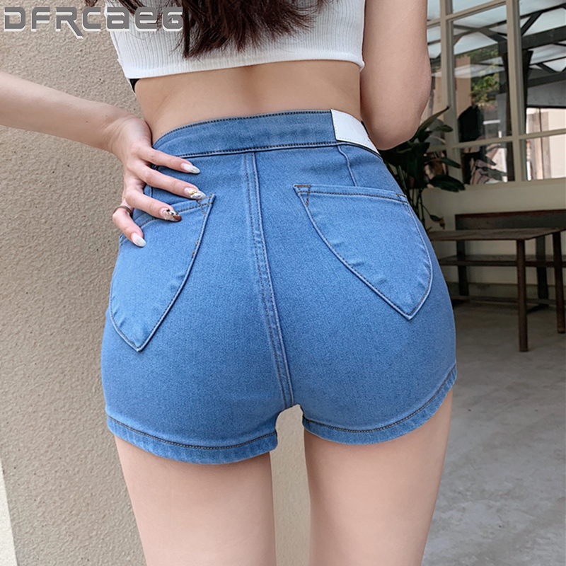 Summer 2020 New Short Denim Shorts For Women Blue Sky Blue Or Black Skinny Sexy Jeans Shorts High Quality Short Femme