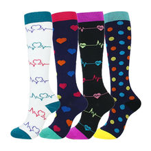 Компрессионные носки для женщин и мужчин, по колено, медицинские, для кормления, путешествия, Кроссфит, подарки