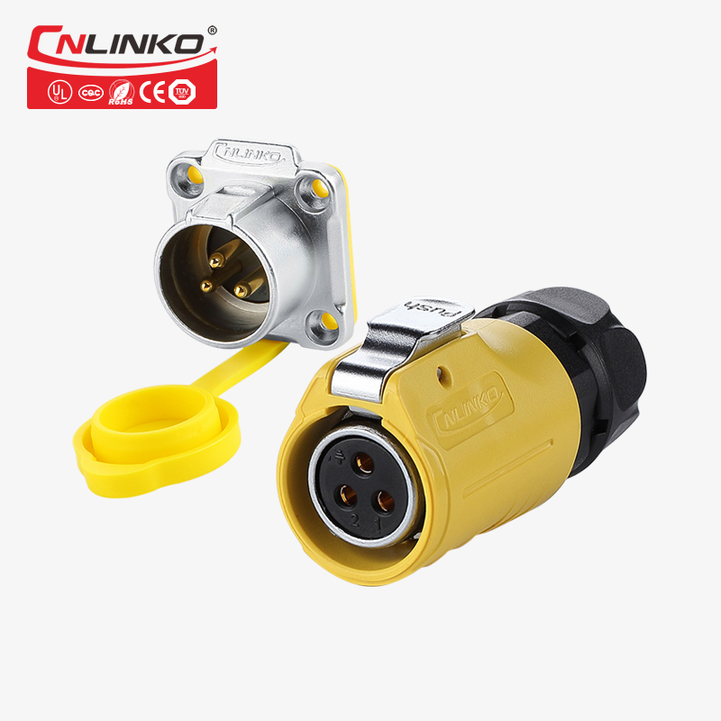 CNlinko DIN M20 <font><b>2</b></font> 3 <font><b>4</b></font> <font><b>Pin</b></font> Power Connectors 5 7 9 12 <font><b>Pins</b></font> Industrial Male&Female Plug Signal Adapter Medical Waterproof Connector image