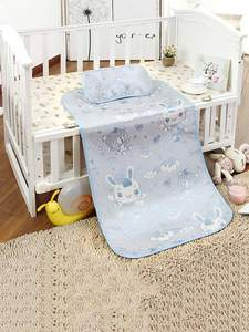 Baby Crib-Pad Pillow Cooling-Mat Newborn Summer with Ice-Silk Infant Bedding-Set 120--60cm