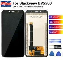 100% de pantalla LCD de 5,5 pulgadas para BLACKVIEW BV5500 / BV5500 Pro, montaje de digitalizador con pantalla táctil de repuesto para BV5500Pro + herramientas