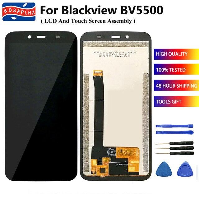 """5.5 """"100% اختبار ل BLACKVIEW BV5500 / BV5500 برو شاشة الكريستال السائل مجموعة المحولات الرقمية لشاشة تعمل بلمس استبدال ل BV5500Pro + أدوات"""