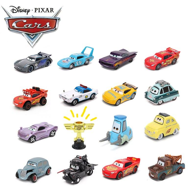Disney Pixar Cars 3 Toy Lightning McQueen Mater Storm Jackson Ramirez 1:55 Diecast Metal Alloy Model Car Toys Gift For Boys