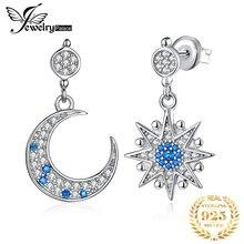 Ювелирный дворец, Лунная звезда, созданная шпинель, висячие серьги, 925 пробы, серебряные серьги для женщин, корейские серьги, модные ювелирные изделия 2020