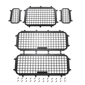 5Pcs Metal Window Mesh Protective Net for 1/10 RC Crawler Car Traxxas TRX4 TRX-4 Defender Upgrade Accessories decoration metal protective net armored metal guard plate for 1 16 heng long german tiger 3818 rc tank upgrade parts