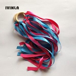 20 шт./партия, синяя и красная деревянная кольцевая лента Вальдорф с колокольчиком, наручный воздушный змей, игрушка FLY ME Birthyday, вечерние сувен...
