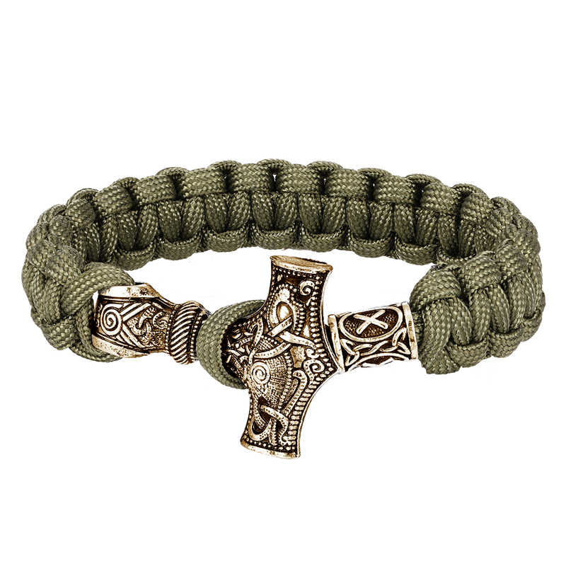 Vikings do vintage pulseiras homem nórdico machado paracord corda sobrevivência envoltório pulseira homme amuleto thor viking rune artesanal jóias presentes
