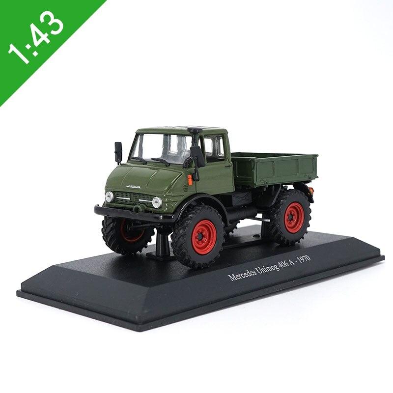 1:43 escala clássico liga caminhão unimog 406 um veículo fora de estrada fundido caminhão modelo de brinquedo presente das crianças coleção decoração de casa