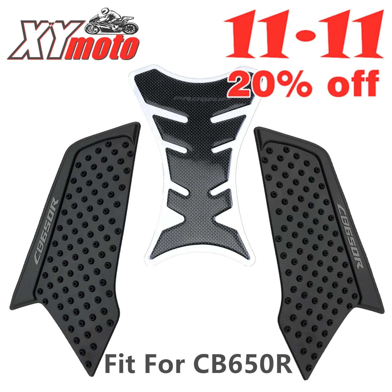 Motorcycle Tank Pad Sticker For Honda CB650R CB 650R 2019 2020 Oil Tank Protector Anti Slip Tank Grips Stickers 19-20