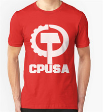 Cpusa T-shirt Communistische Partij Amerika Usa Politieke Sweatshirt Tee Shirt(China)