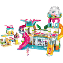 Building Blocks Fit Legoingly 828Pcs Friends Series City Girls Sunshine Water Paradise Sandy Beach Park With Figures Toys Gifts