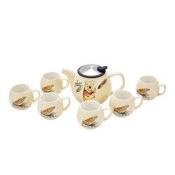 ديزني غلاية الماء ويني ذا بو كوب كرتوني مجموعات القهوة الحليب الشاي الإفطار السيراميك القدح المنزل مكتب مجموعة أدوات المائدة