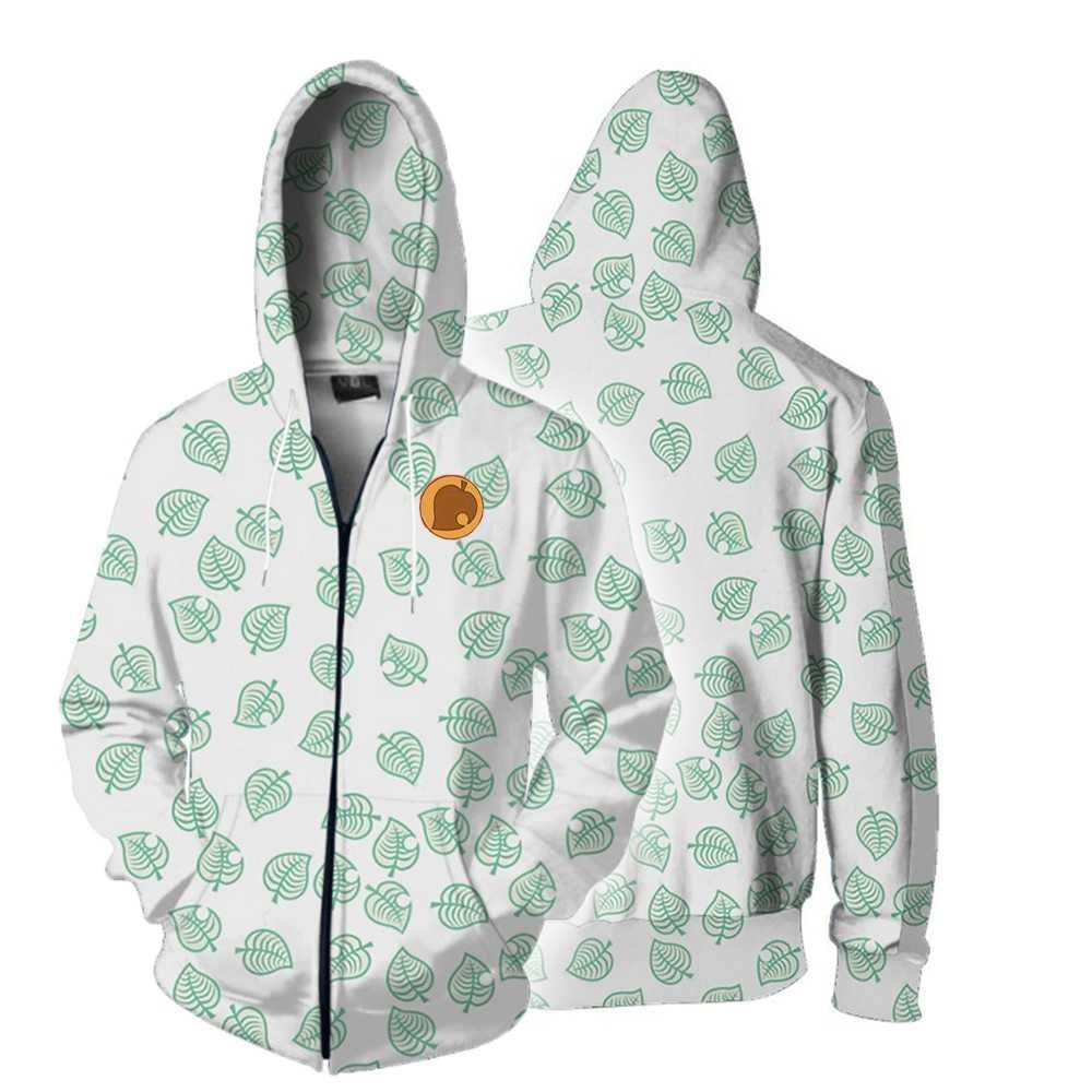 Animal Crossing Hoodie Denim Jacket Coat Sweatshirt Hooded Cosplay Costume