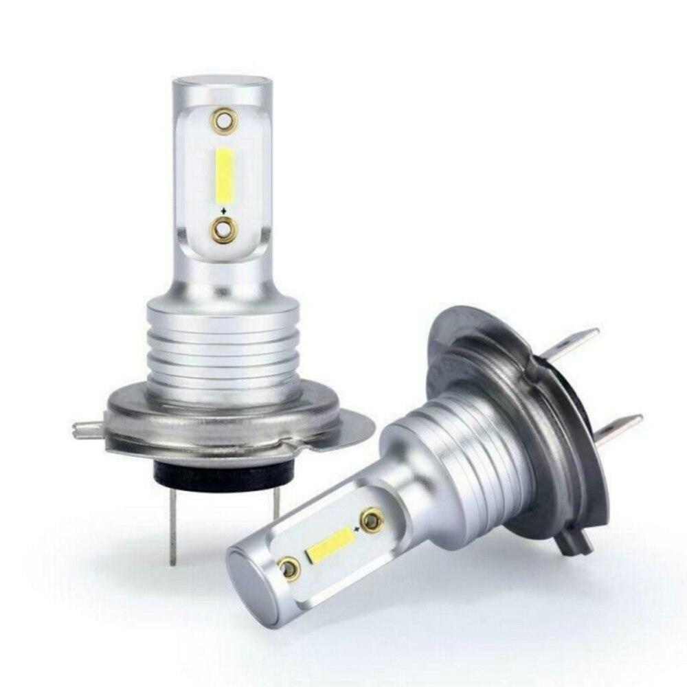 2pcs H7 COB Car LED Headlight Headlamp Bulbs Conversion Kit High/Low Beam 55W 8000LM 6000K Super Bright Car LED Headlight