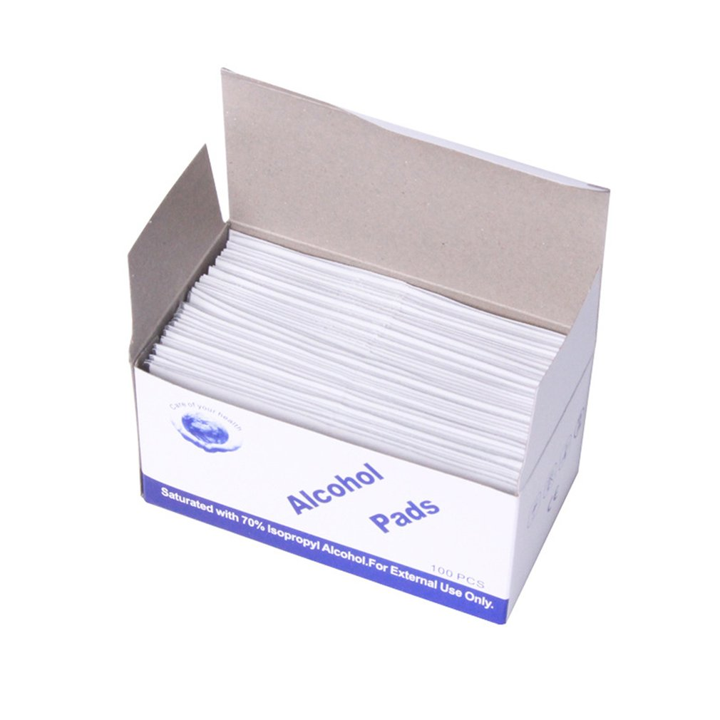 Tablets Of Clean Alcohol-sterilized Cotton Wipes Not Irritating Disinfect The Wounds And Instruments Clean 100 Pcs/box