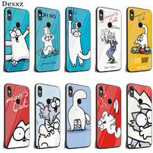 Cat mobile Phone Cell Case Cover for Xiaomi 8 Lite A1 A2 9 Redmi Note 5 6 7 Pro 6A 4X Pocophone F1 Shell(China)
